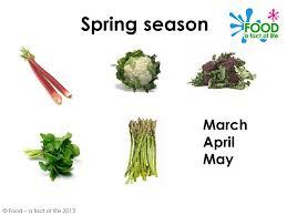 spring seasonal foods